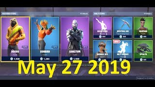 Fortnite Item Shop (27 mai 2019) Doggo Skin, Sunbird Skin, Sanctum Skin, Billy Bounce Emote