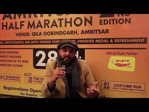 Parvez Bhateja, Program Director Radio Mirchi adds excitement to Ultratech Amritsar Half Marathon