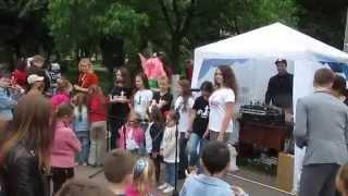 Киев:  Детский праздник на Ленинградской площади, 18 мая 2014 г.