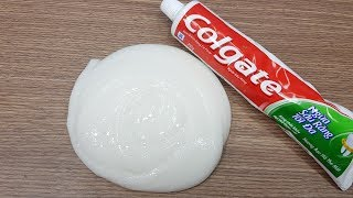 DIY Toothpaste Fluffy Slime!! N๐ Shaving Cream, No Glue, No Borax! MUST WATCH!