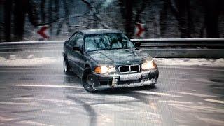 SPECIAL Driftfun BMW E36 325i Part II Snow Drift Action Rev Sound