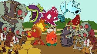 plants vs zombies animation lost city part 4 parodia 50k special modern day cartoon