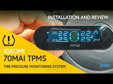 Xiaomi 70mai TPMS Tire-Pressure Monitoring System - Installation and Review (2019)