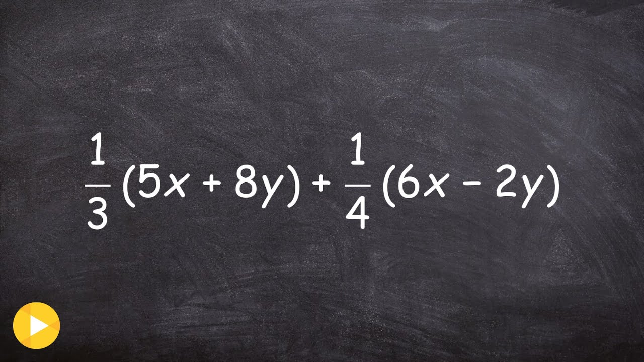 Combine Like Terms With Distributive Property And Fractions Mistake