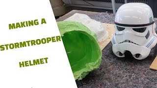 How to  make a Star Wars Stormtrooper helmet brush on mold and casting