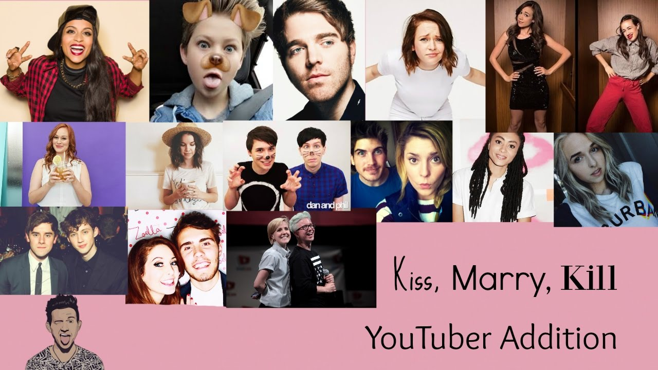 kiss marry kill  youtuber addition