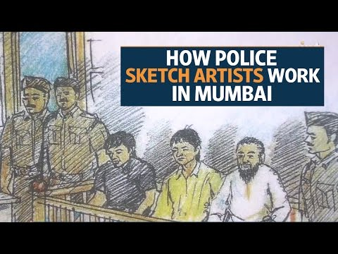 How do police sketch artists work in Mumbai?
