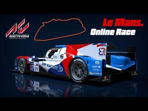 Онлайн гонка в поддержку команды SMP Racing в Лемане в Assetto Corsa.