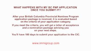 What happens with my BC PNP application once you submit it?
