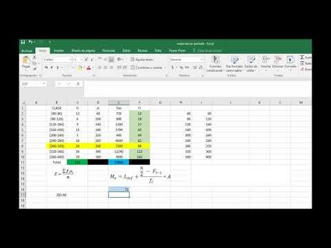 Calculo De La Media La Mediana Y La Moda Para Datos Agrupados En Excel