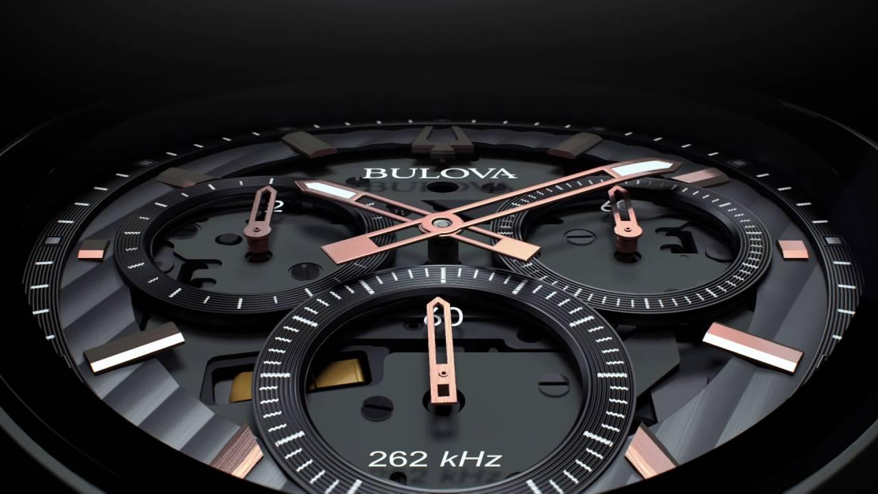 85ae86826 Bulova Curv 98A162 Titanium Chronograph Black Silicon Strap Watch - W09101    F.Hinds Jewellers