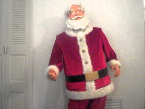 Gemmy life size 5ft tall animated singing dancing karaoke Santa Claus