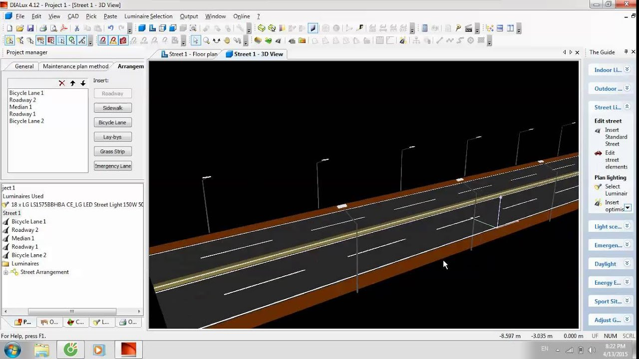 Hướng dẫn sử dụng dialux – Giao thông công chính k53 – Đại học giao thông vận tải