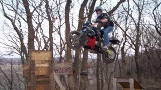 Street Bike JUMPS Freestyle RAMP Gets HUGE AIR Motorcycle Stunt Bike Rider JUMPING Sport Bike JUMP
