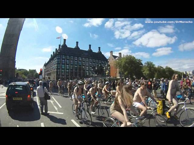 World Naked Bike Ride 2013 - London @WNBRLondon