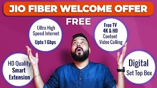 Jio Fiber Welcome Offer & Plans | Free 4k TV & Set Top Box | 1GBPS Internet!!