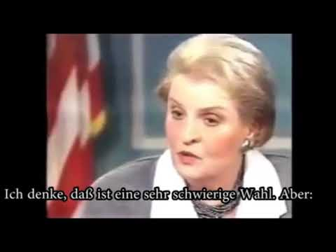 1/2 Million tote Kinder durch Irak-Sanktionen - M.Albright: