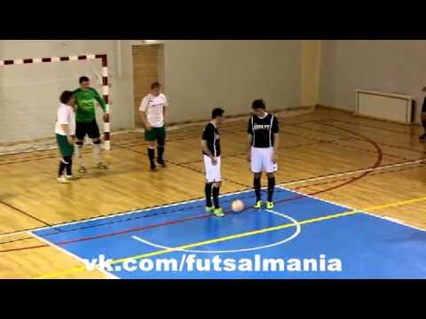 Розыгрыш штрафного - футзал мини-футбол futsal skills goal tricks - Видео онлайн