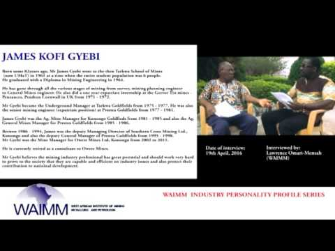 Meet Retired General Mines Manager James Gyebi