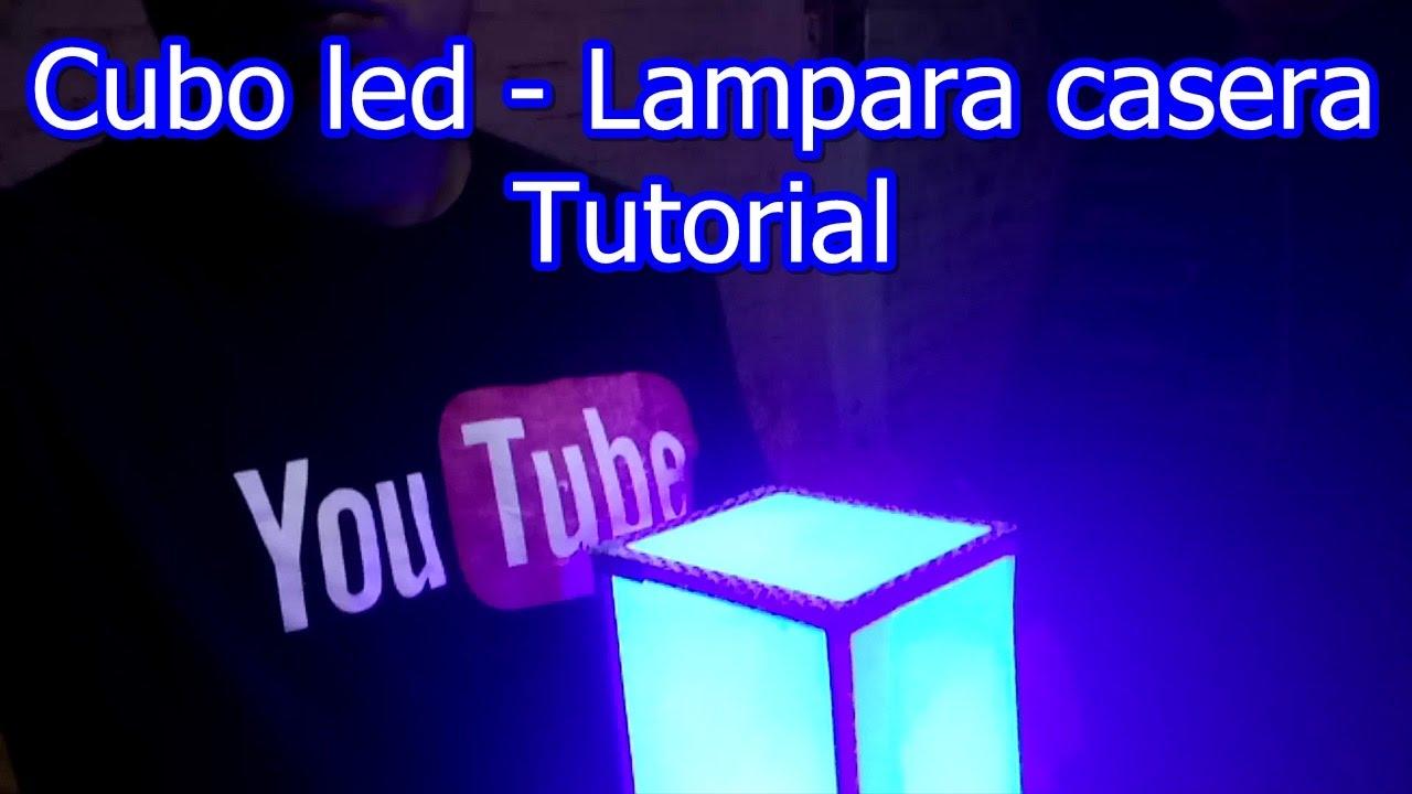 Led Como una hacer Lampara Cubo tutorial casera m0wvN8n