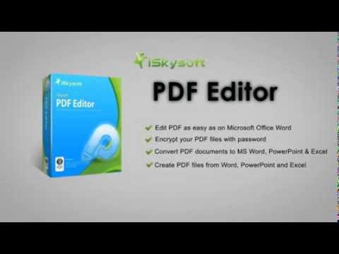 iSkysoft PDF Converter Professional Creator MS OFFICE to PDF Password Protection