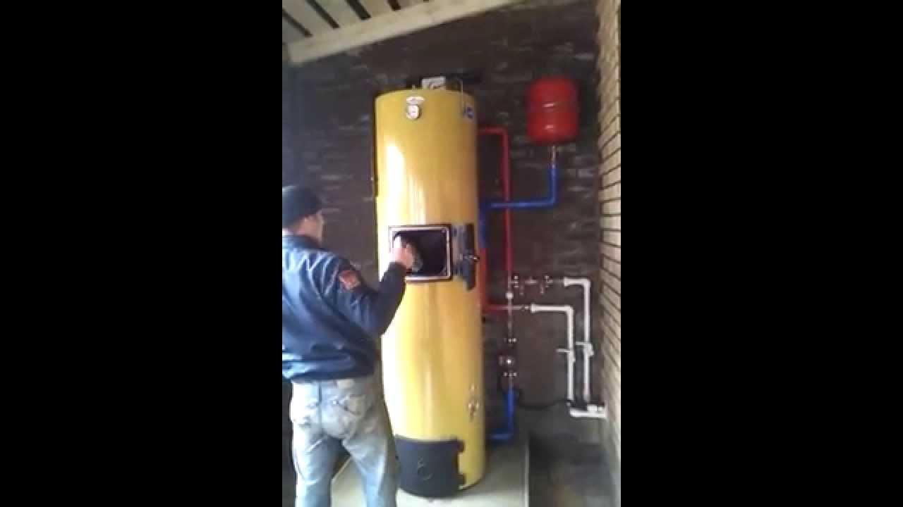 подключение твердотопливного котла к дымоходу схема