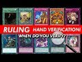 RULINGS - Hand Verifications DOs and DQ - Is being Honest too HARD?