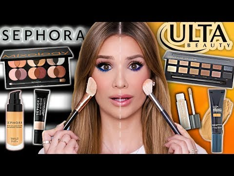 SEPHORA vs ULTA Full Face Comparison! ...What's Better?!