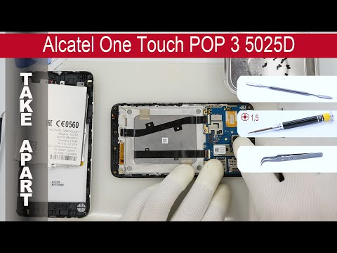 How to disassemble 📱 Alcatel One Touch POP 3 5025D Take apart, Tutorial