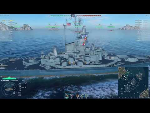 World of Warships - [Tier VIII Premium] USS Alabama on Neighbors [2017.10.23], Build 0.6.10.1
