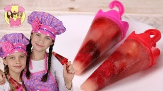HEALTHY KIDS BERRY POPSICLES - Strawberry & Raspberry Ice Lolly By Charli's Crafty Kitchen