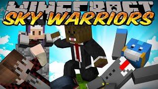 Minecraft Mini-Game Skyblock Warriors w/Jerome, Mitch, & Husky - Next Level Strats