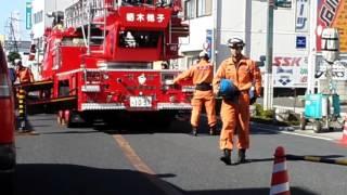 栃木消防署梯子しャアウトリガ