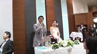 【結婚式 サプライズムービー】ゲストも驚き!2人の思い出がパラパラ漫画で再現!【パラパラメモリー】