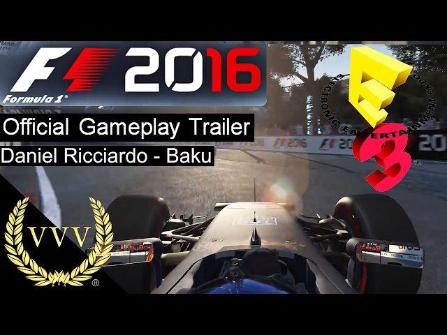 F1 2016 Daniel Ricciardo Baku Official Gameplay Trailer