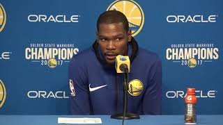 Kevin Durant Postgame Interview / GS Warriors vs Thunder / Feb 24