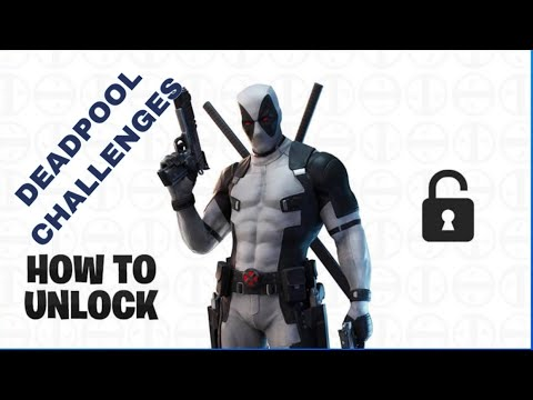 NEW DEADPOOL x-FORCE SKIN -HOW TO WNLOCK  BLACK&WHITE DEADPOOL SKIN IN FORTNITE🔥🔥
