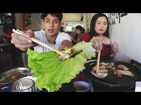 How to ENJOY KOREAN BBQ!!! SAMGYUPSAL MUKBANG