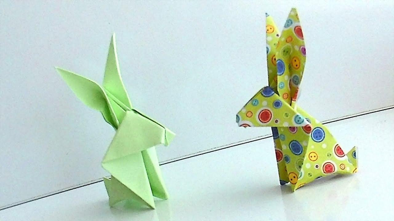How to make origami rabbit hare paper origami animals for how to make origami rabbit hare paper origami animals for beginners youtube jeuxipadfo Gallery