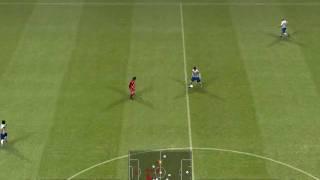 Pro Evolution Soccer 2009 demo Gameplay Liverpool v  Manchester United (1st Half)