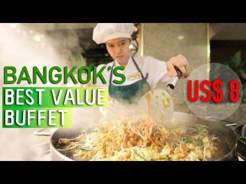 BEST VALUE THAI FOOD BUFFET IN BANGKOK – ONLY $8 (249 Baht) @ Asia Hotel Bangkok!