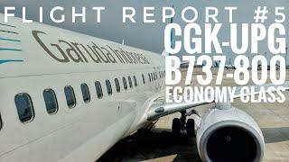 Flight Report #5 | Garuda Indonesia GA616 Jakarta to Makassar Economy Class B737-800