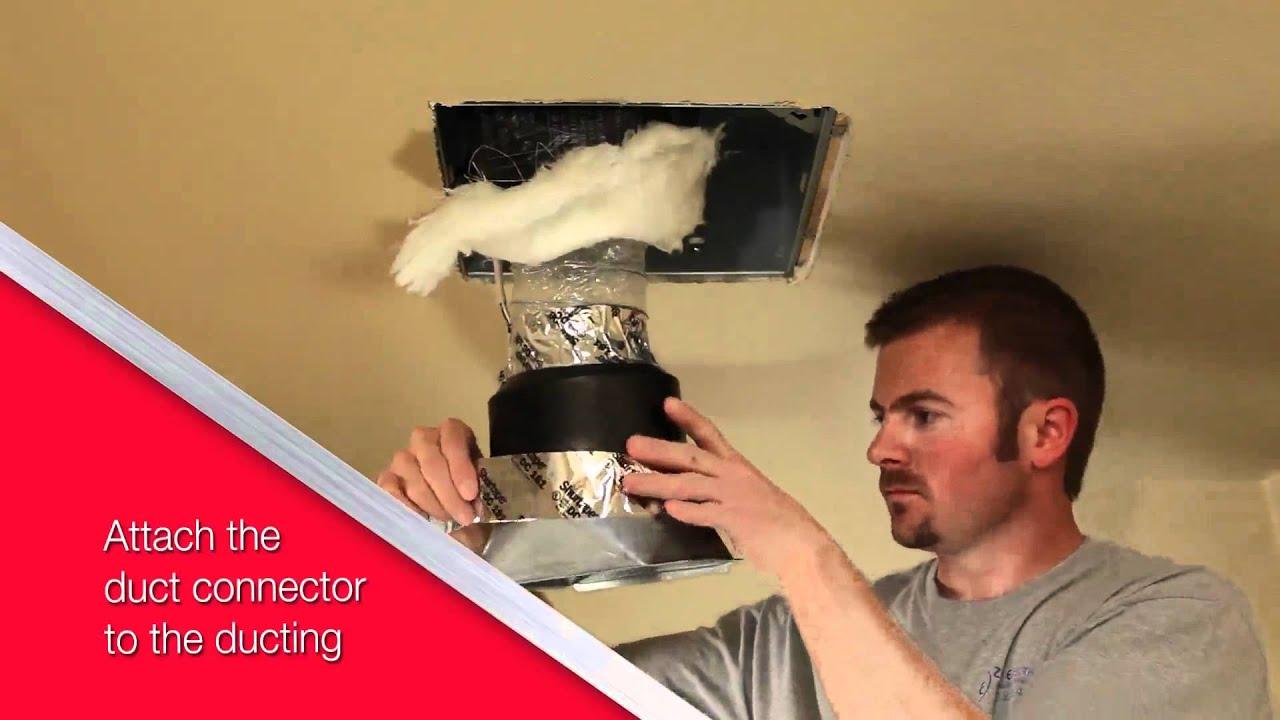 Nutone Ultragreen Series Ventilation Fan Installation Video For Retrofit You