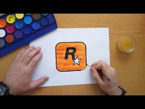 How to draw the Rockstar Games logo
