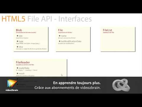 Tutoriel APIs HTML5 : Explorer les interfaces de File API | video2brain.com