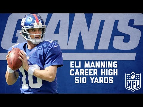 Eli Manning Highlights from Career-High 510-Yard Game | Buccaneers vs. Giants (2012) | NFL