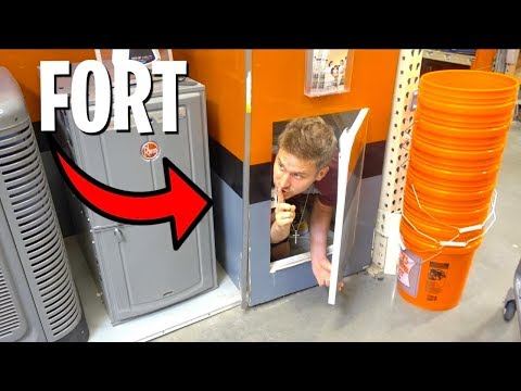 FORT IN HIDDEN SECRET DOOR!