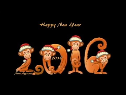 Happy New Year 2016 Animated/Wishes/Greetings/E Card/Happy New Year 2016  Whatsapp Video   YouTube