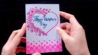 ทำการ์ดวันวาเลนไทน์ ด้วยสีไม้ How to make Valentine's Day Card #2