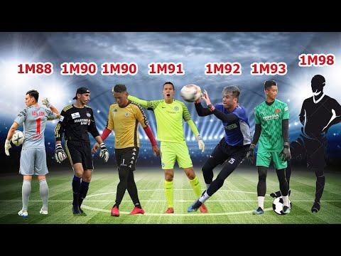 7 thủ môn CAO NHẤT lịch sử bóng đá Việt Nam (K ngờ Văn Lâm thấp nhất)